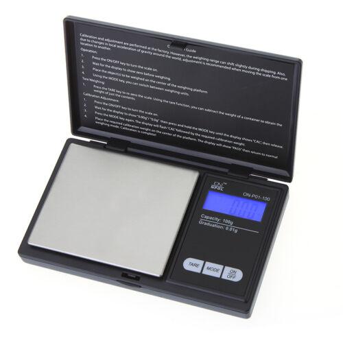 100g x 0.01 Mini LCD Digital Scale Jewelry Gram Pocket Balance Weight Scale