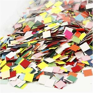 10 000 mosaic pieces 1cm square card stock mixed colours for Mosaic pieces for crafts