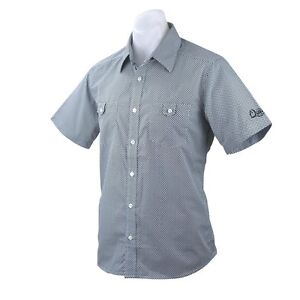 QUIKSILVER Mens CHECK MATE Slim Fit Button Up Short Sleeve Logo Shirt (S) NEW