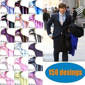 New-Mens-Neck-tie-Groom-ties-Wedding-Party-Handmade-Necktie-KB3