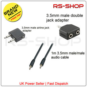 3-5mm-1m-male-male-Audio-Cable-and-Double-Airline-Jack-Adapter-Set-for-Earphones