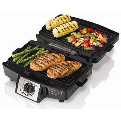 Indoor Electric Counter-Top Press Grill, Non-Stick Removable Plate Electric