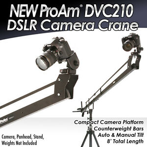 NEW-Pro-Am-ProAm-8-DVC210-Professional-Video-DSLR-Camera-Crane-Jib-Boom-System