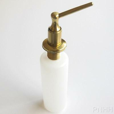 New Deck Mount POLISHED BRASS Soap & Lotion Dispenser with Bottle Kitchen & Bath