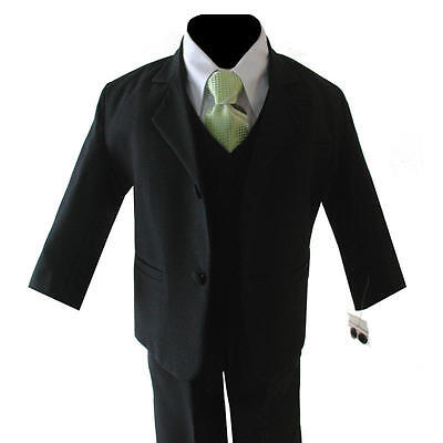 Brand Boy Black Suit W/lime Green Tie Size S 3-6 Mo
