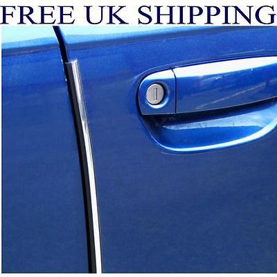 E-TECH Car Door Egde Protector U Profile Door Guard Chrome 2M Scratch Resistant