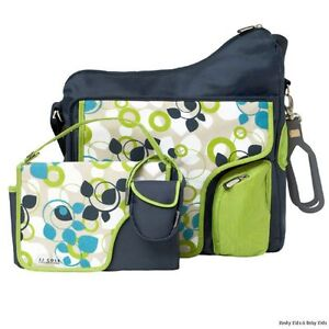 JJ-Cole-System-180-BLUE-VINE-Baby-Changing-Bag-NEW