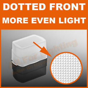 Dotted Front Omni Bounce Diffuser Cap for Canon 430EX II 420EX Flash
