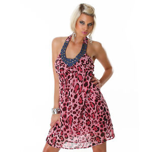 NEW-SEXY-HALTER-NECK-LEOPARD-ANIMAL-PRINT-MINI-DRESS-WITH-BEADING-SIZE-8-10-12