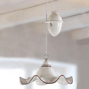 lampadario sospensione d.40 cm ceramica classico rustico country ... - Lampadari Cucina Country