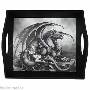 Dragon Serving Tray Dragon Maiden Warrior Decor Plate TR5588 Platter Dish 36cm