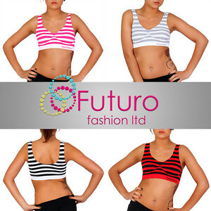 Comfortable-Sports-Striped-Bra-6-Colors-No-Wire-Paded-Sizes-S-M-L-XL-HQ-7399
