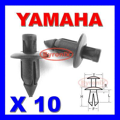 YAMAHA FAIRING PANEL TRIM CLIPS RIVETS FASTENERS 6mm X10