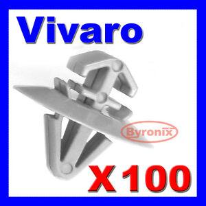 VAUXHALL-VIVARO-SIDE-MOULDING-DOOR-TRIM-CLIPS-PLASTIC-FASTENERS-X-100