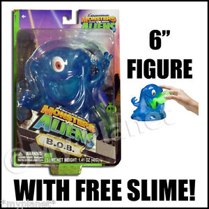 MONSTERS vs ALIENS INDESTRUCTIBLE BOB B.O.B. FIGURE WITH SLIME TOY OFFICIAL NEW