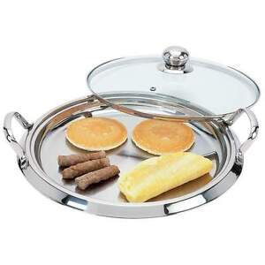 Chefs-Secret-14-12-Element-High-Quality-Stainless-Steel-Round-Griddle-w-Lid