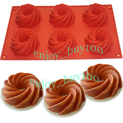 Bareware Chocolate Muffin Cup Bundt Cake Pan Jelly Silicone Mold Donuts Mould  on Rummage