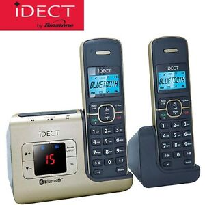 IDECT LINK PLUS TWIN BLUETOOTH CORDLESS PHONES + DIGITAL ANSWER MACHINE