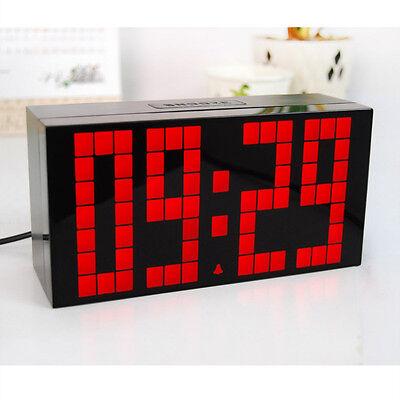 Digital Large Big Jumbo LED Display Wall Table Alarm Clock Snooze Calendar Timer