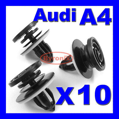 AUDI A4 DOOR CARD TRIM PANEL CLIPS FRONT INTERIOR PLASTIC  X 10