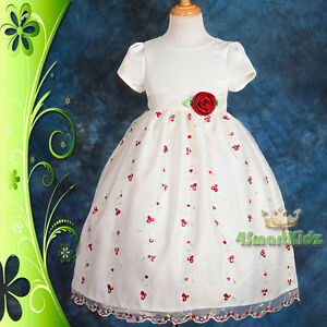 Flower-Girl-Dress-Wedding-Bridesmaid-Party-Ivory-Embroidery-Size-2-9-152