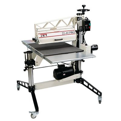 Jet 22-44 Pro Drum Sander 3hp 1ph Dro Tables And Casters 649600