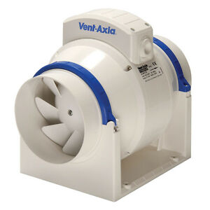 Vent-Axia ACM100T In-Line Mixed Flow Fan with a Timer