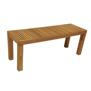 OUTDOOR INDOOR NOOSA BENCH SEAT TIMBER BROWN