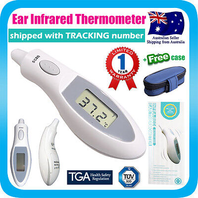 Digital Infrared Ear Thermometer Probe Cover Free Design +case For Baby Adults