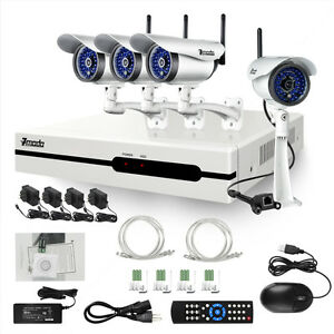 ZMODO 4 CH Network Video Recorder Wireless IP Security Camera NVR System 1TB HD