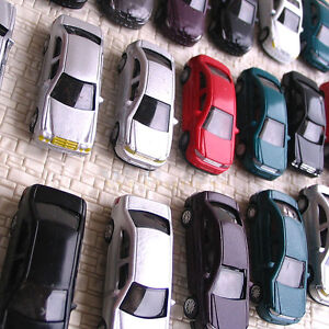 50 pcs HO Scale 1/100 well painted Model Cars