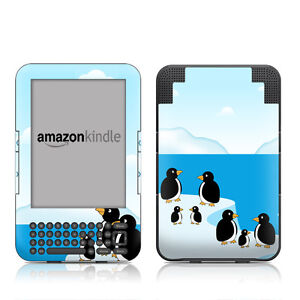 Amazon Kindle 3 KEYBOARD DecalGirl Gloss Skin ~ Penguins