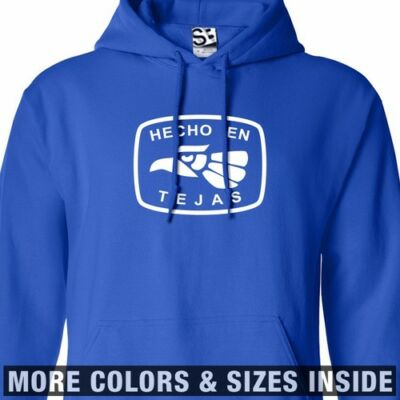 Hecho En Tejas Hoodie - Hooded Texas East West Sweatshirt - All Sizes & Colors