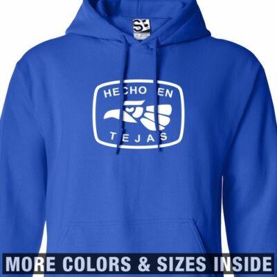 Hecho En Tejas Hoodie - Hooded Texas East West Sweatshirt - All Sizes & Colors