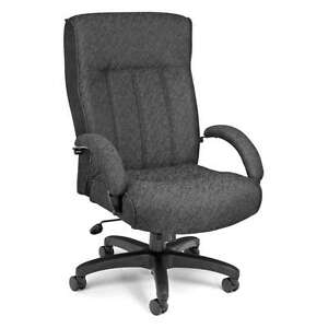 HIGH BACK BIG And TALL CHARCOAL MANAGER OFFICE PUTER CHAIR