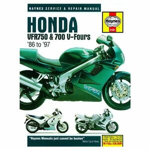 Haynes Honda VFR750 & 700 V-Fours 1986 - 1997 Motorcycle Workshop Manual Book