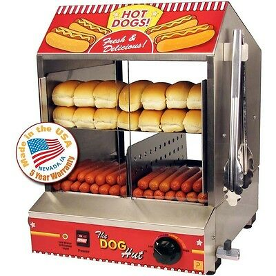 Commercial Hot Dog Steamer Cooker Countertop Hotdog Concession Warmer Server