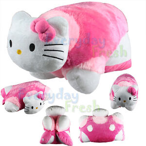 NEW Hello Kitty Transforming Pet PILLOW Cushion Bed Car Nap Plush Doll Toy