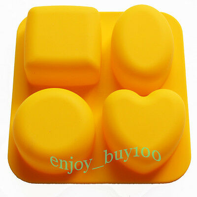 Basic Square Heart Oval Round Soap Silicone Mold Candle Making for Homemade on Rummage