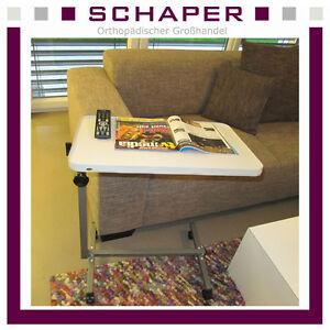 betttisch beistelltisch fahrbar pflegetisch beistelltisch laptoptisch bett tisch ebay. Black Bedroom Furniture Sets. Home Design Ideas