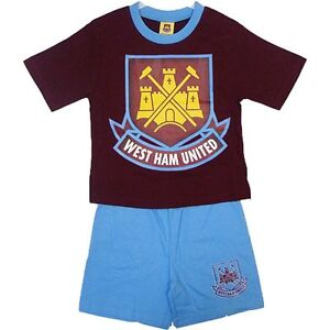 WEST-HAM-PYJAMAS-VARIOUS-AGES-NEW-18-23MTHS-2-3-3-4-YEARS-HAMMERS