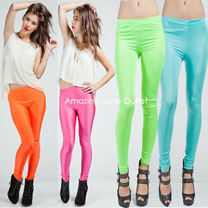 SHINY-TIGHT-LEGGINGS-Liquid-Spandex-Nylon-Dance-80s-Fashion-Apparel-HOT-PANTS