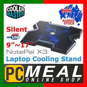 Cooler-Master-NotePal-X3-Notebook-Stand-Laptop-Cooling-Pad-9-17-Silent-Fan-USB