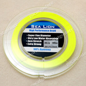 NEW-SeaLion-Dyneema-Braid-Fishing-Line-300M-30lb-yellow