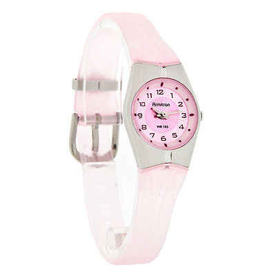 Armitron Sport Mini Ladies Pink Silicon Gel Band Quartz Watch 25-6355PNK New