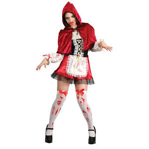 Living Dead Zombie Little Red Riding Hood Halloween Horror Fancy Dress Costume