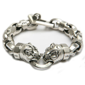 ROOM-101-by-Matt-Booth-FU-Head-skull-bracelet-sterling-silver-925-Limited