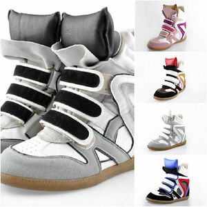 2012-Top-Womens-Velcro-Strap-High-TOP-Sneakers-Shoes-Ladys-Ankle-Wedge-Boots