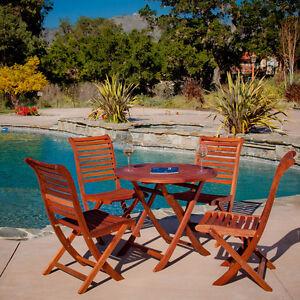 Outdoor-Patio-Furniture-5-pcs-Luxurious-Eucalyptus-Wood-Dining-Set-Stackable