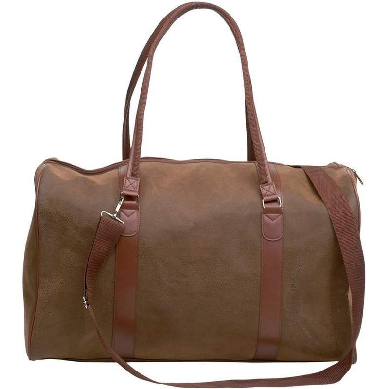 Brown 21\ Faux Leather Duffle Bag, Womens Travel Luggage Overnight Suitcase Tote